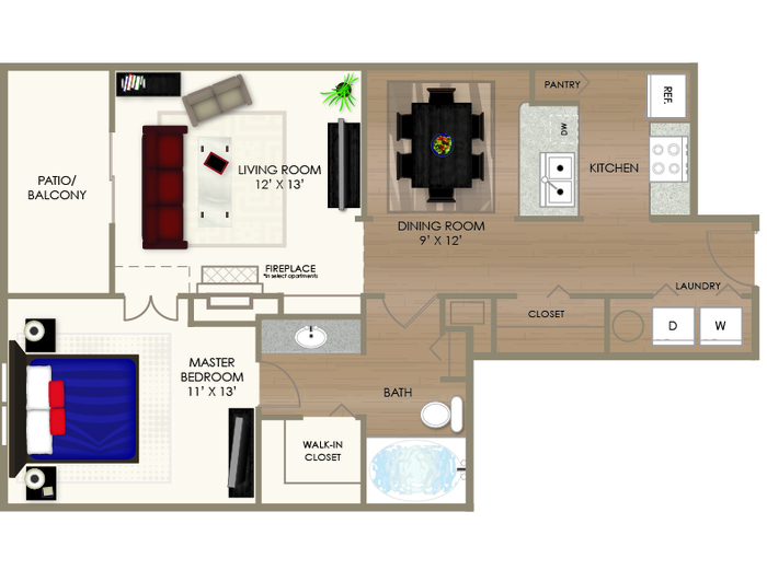 The River Flat Floor Plan