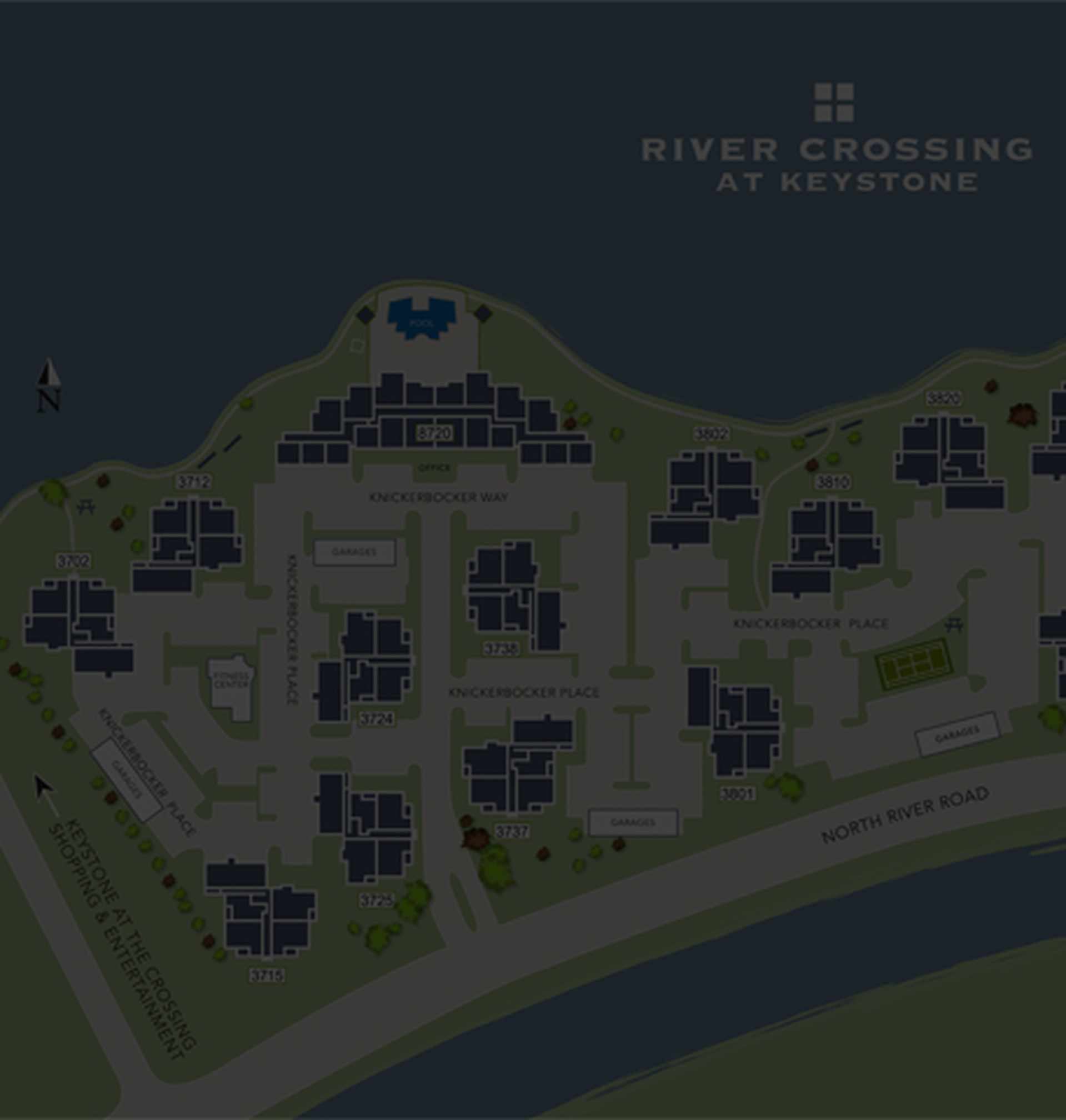 Sitemap of River Crossing Apartments